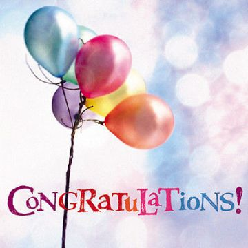 "CONGRATULATIONS CARD ""FLOATING BALLOONS IN THE SKY"" SIZE 6.25"" x 6.25"" 9098 OCEH"